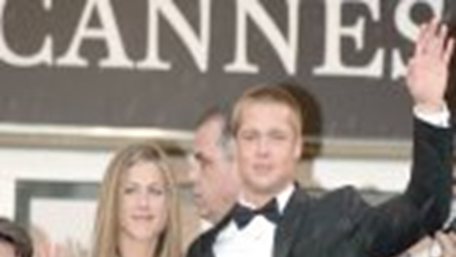 Brad Pitt e Jennifer Aniston no Festival de Cannes