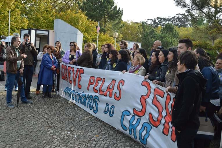 Protesto no Centro Hospitalar do Oeste